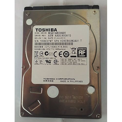 500GB Internal Hard Disk Drive For Laptops