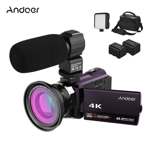 Andoer 4K Camcorder 1080P 48MP WiFi Digital Video Camera IR