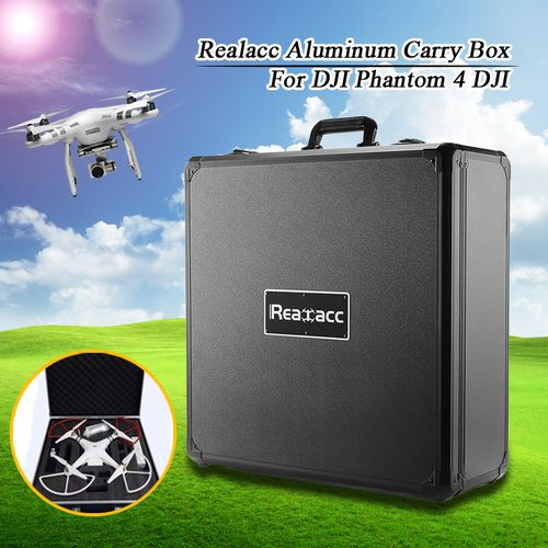 Waterproof Realacc Aluminum Suitcase Carrying Case Hard Shell For 4