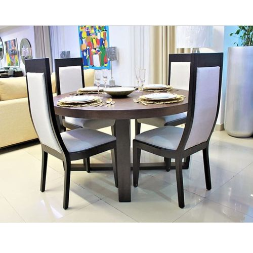 Velvet 4 Seaters Rounded Dining Table