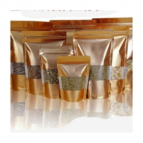 100pcs Resealable Packaging Pouch(Gold)
