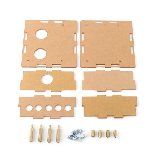 Acrylic Case Shell Housing Protective Parts Kit For 6J1 Valve Tube PreAmplifier Board - Intl