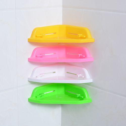 Corner Shelf Office Rack Kitchen Organizer Bathroom Accessories 4pcs