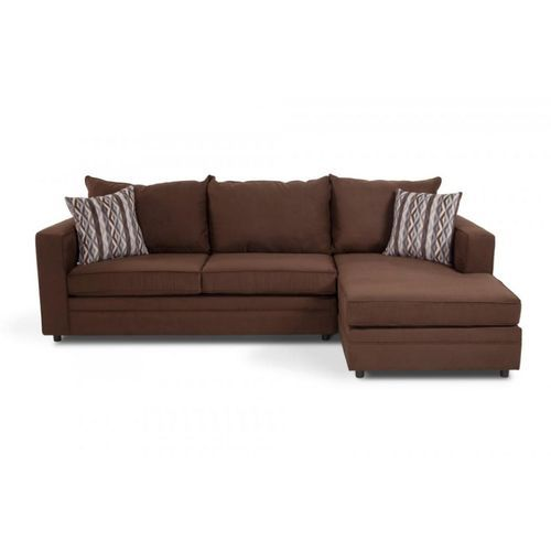 5 Seater L-shaped Sofa Chair - Brown