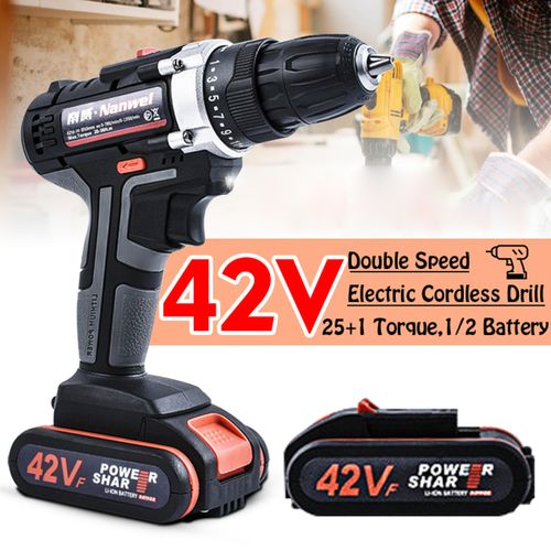42V 7500MAH Heavy Duty Electric Impact Wrench Cordless Drill Too L- 1Batteries