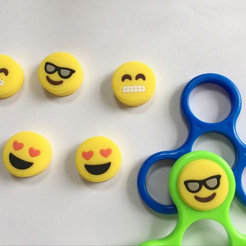 1 Pcs Emoji EDC Hand Fidget Spinner Finger Gyro Anti Stress Toys Autism Accessory Parts DIY