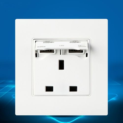 Excellway® KI02 250V 13A Universial Plug Dual USB Port Wall Charger Adapter Socket