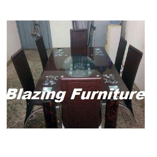 Authentic Glass Dinning With 6 Chairs
