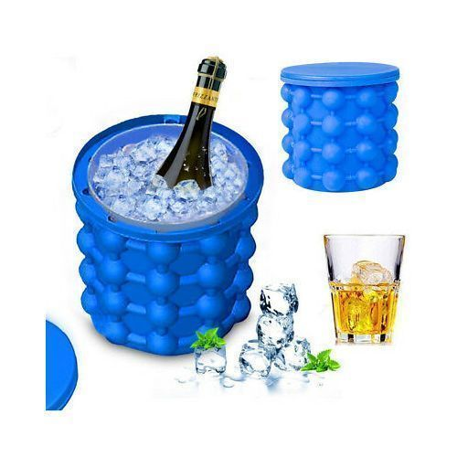 Ice Cube Maker Genie/Silicone Ice Bucket
