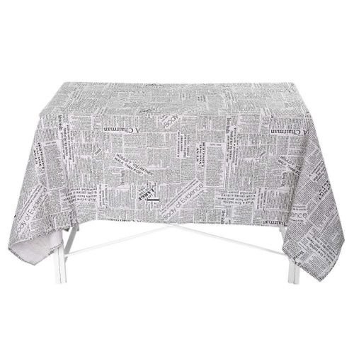 2 Types Newspapers Pattern Table Cloth Cotton Linen Tablecloth Table Cover For Kitchen Home