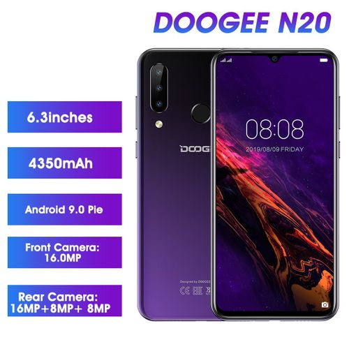 N20 6.3 Inch FHD+ Android 9.0 4350mAh 4GB RAM+ 64GB ROM Triple Rear Cameras Helio P23 Octa Core 2GHz 4G Smartphone