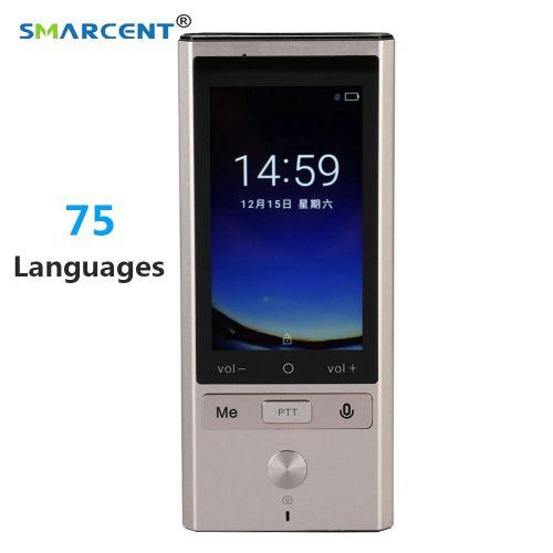 75 Languages Real Time Translation Smart Voice Translator WIFI+GPS+BT Multilingual Translator For Travel Meeting High Accuracy ASQOA