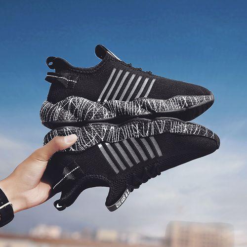 Men's Casual Shoes Walking Running Sneakers-Black