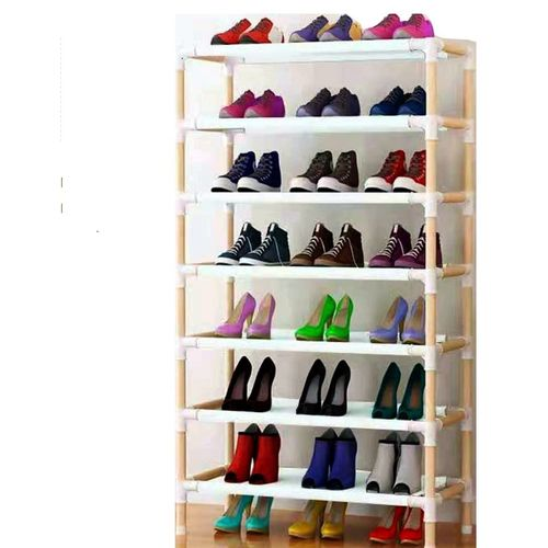 Quality Wooden Shoe Rack 24 Pairs-( 7Steps )