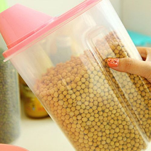 Storage Box Holder Lid Foods Rice Pasta Container Hot