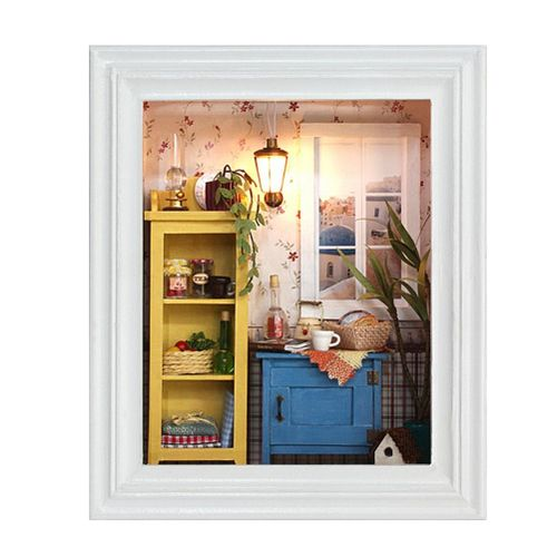 DIY Dollhouse Photo Frame Design Warm House Kit With Furniture Birthday Gifts Home Decoration