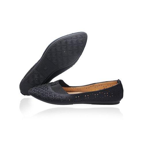 New Caribbean Female Flat Shoe - Black