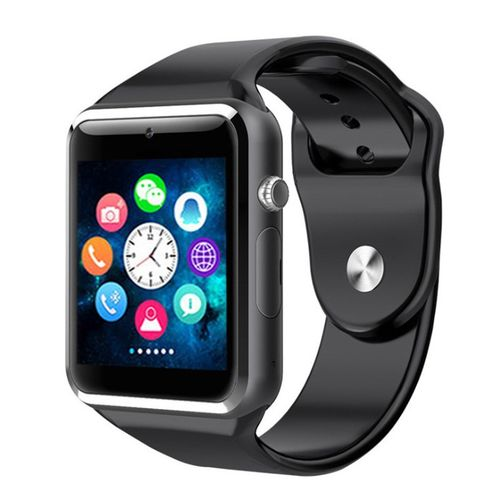 A1 Bluetooth Smartwatch Pedometer With SIM Slot - Black