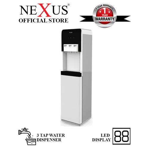 3 Tap Water Dispenser With LED Indicator - Black
