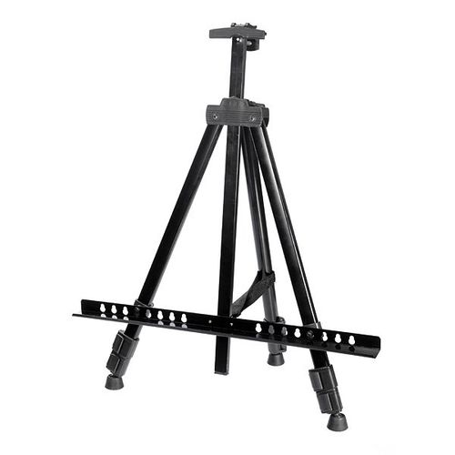 Artist Aluminium Alloy Folding Drawing Painting Easel Adjustable Tripod Stand Black