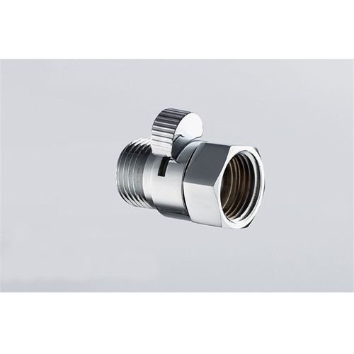 1Pcs G 1/2 Male And Female Copper Shower Head Shut-Off Valve Quick Open Adapter Valves Flow Regulator Chrome Finish Water Saver