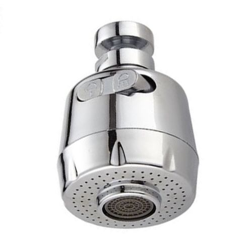 MT Kitchen Faucet Nozzle Shower Head Water Saving Device Splash Guard Filter-Silver-7CM