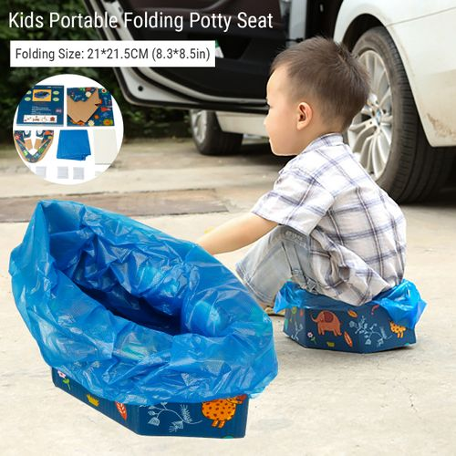 Portable Folding Toilet Outside For Kids Travel Emergency Toilet