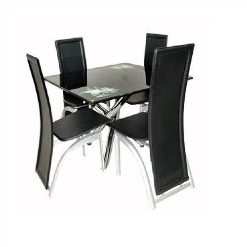 Classic Dining Table With 4 Classic Chairs - Black (Lagos And Agbara Delivery Only)