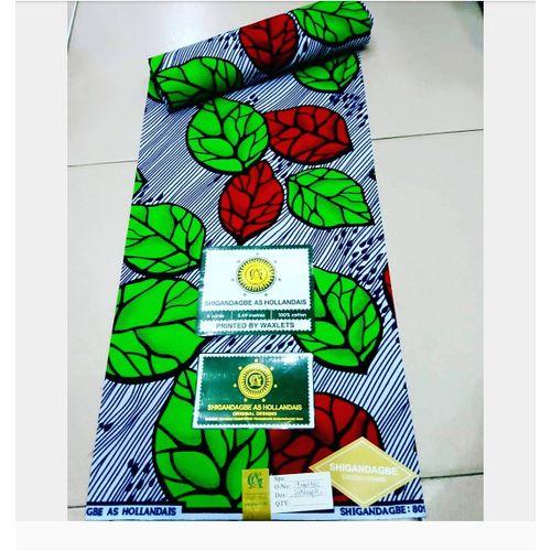 Big Ankara Material - Multicolor, 100% Cotton, 6 Yards