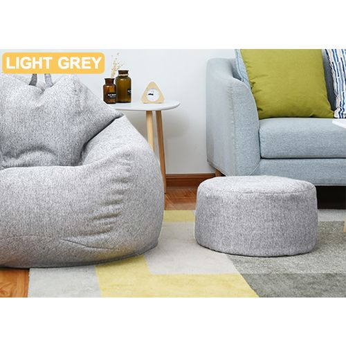 Bean Bag Cover Footstool Round Stool Chair Cover Without Filling