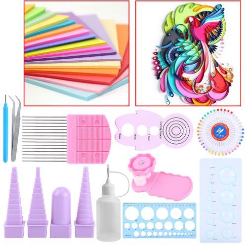 11 In 1 Paper Quilling Tools Kit DIY Paper Craft Comb Ruler Pins Border Buddy Set