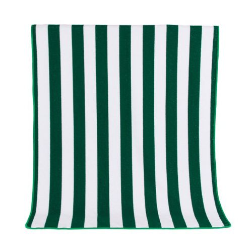 Quick-Drying Absorbent Beach Towel Seaside Double Striped Beach Towel Green