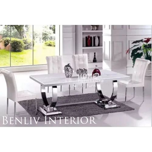 Marble Dining Table + 6 Sittings Chairs ( Lagos Only)