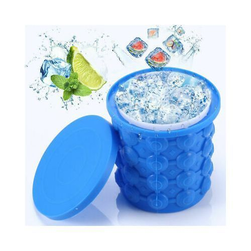 Ice Cube Maker Genie Silicone Ice Bucket Makes