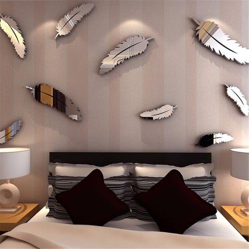 Heart Clover Mirror Wall Sticker Decal Home Romantic Decor
