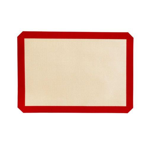 42X29.5Cm Silica Gel Fiberglass Baking Mat Macaron Pad Food Grade Silicone Yellow Bottom