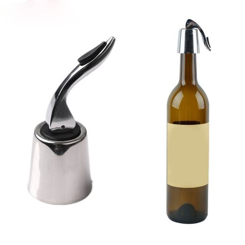KCASA KC-SP002 1pc Wine Vacuum Bottle Stopper Stainless Steel Home Bar Wine Collection Red Wine Cha