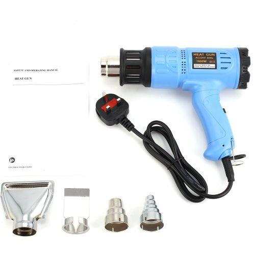 1800W Hot Air Gun Thermostat Heat Gun Heat Air Gun Blower Thermal Power Tool Blue