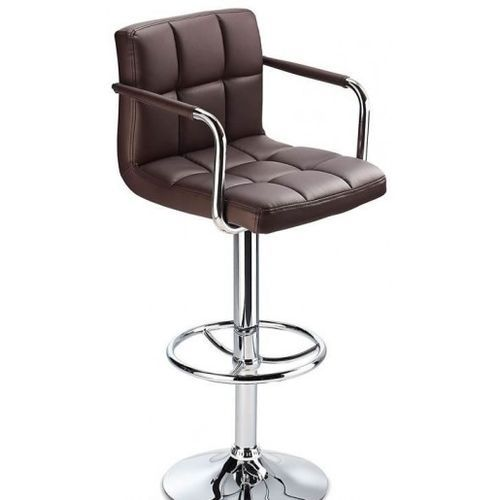 Bar Stool With Revolvable And Adjustable Height-Mahogany With Arm