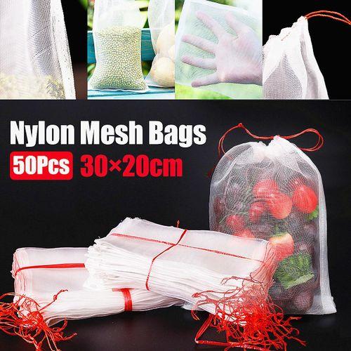 50Pcs 30x20cm Mesh Bags For Vegetable Fruit Tree