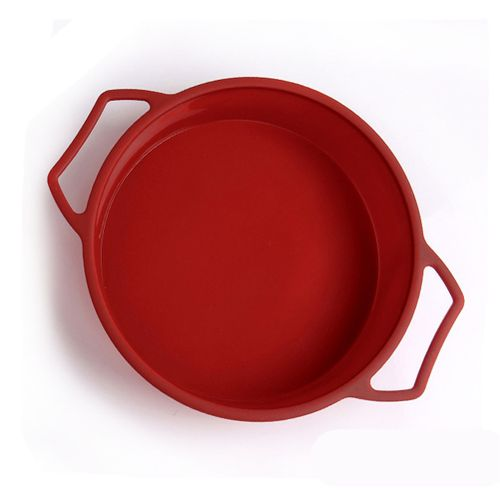 Silicone Round Cake Pan Mold With Handles And Steel Frame For Birthday Party Baking Tray