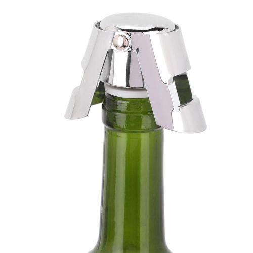 Stainless Steel Champagne Sparkling Wine Stopper Vacuum Sealed Drinks Bottle Plug