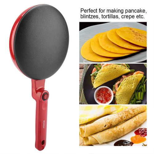 Electric Round Non-stick Pancake Crepe Maker Kitchen Frying Pan Roll Cake Machine 220V