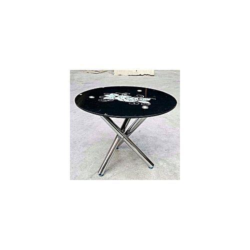Round Black Dinning Table