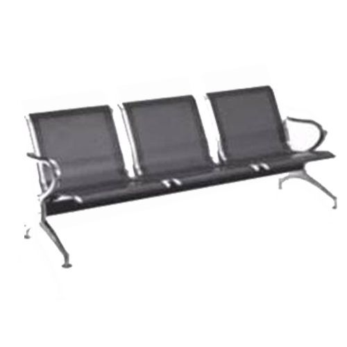 3-Seater Airport Waiting Chairs - Black (Delivery In Lagos, Only)