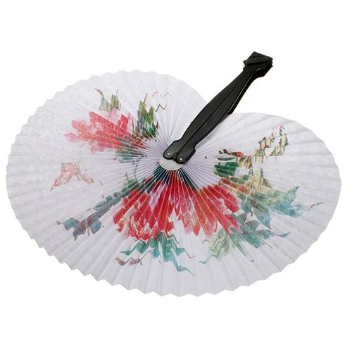 1 Pcs Paper Fans Chinese Style Folding Assorted Print Party Fancy Dress