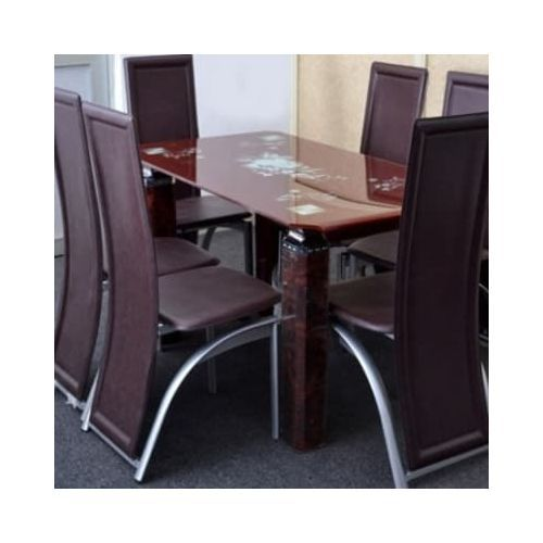 Exquisite Dining Set With 6 Dining Chairs- Brown(Delivery Within Lagos & Ogun Only)