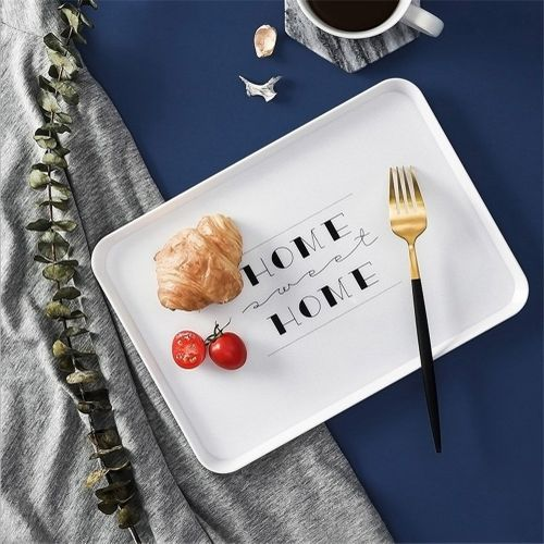 Nordic Contracted Receive Tray Tableware Design Articles For Daily Use Multicolor