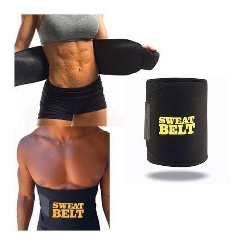 Waist Trainer Slimming Tummy Sweat Belt - (Men And Women Big Belly Fat Removal - Burn Belly Fat Fast)