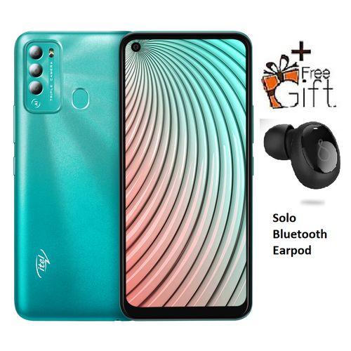 "S16 Pro 6.6"" HD+, 2GB RAM + 32GB ROM, Android 10, 4000mAh, 8MP Triple Camera, Face ID & Fingerprint -Green +Free Solopod"